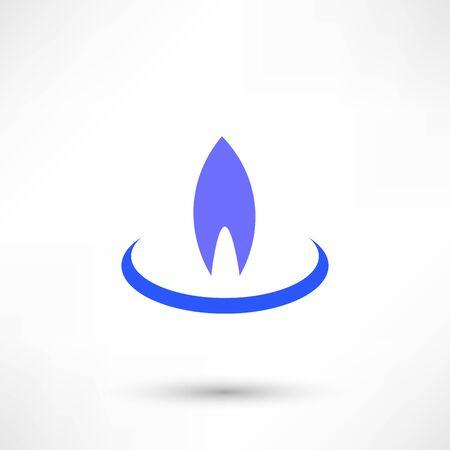 Gas-Flamme Icon