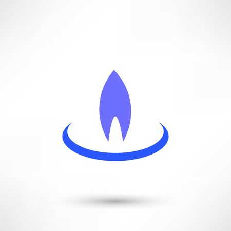 Gas Flame Icon Illustration