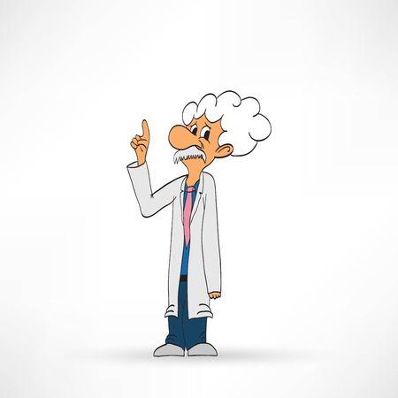 Scientist on a white background, vector illustration Illustration