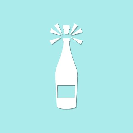 bottle of wine Illustration