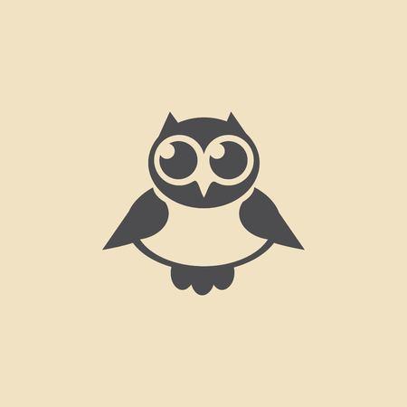 Owl icon. Vector illustration.