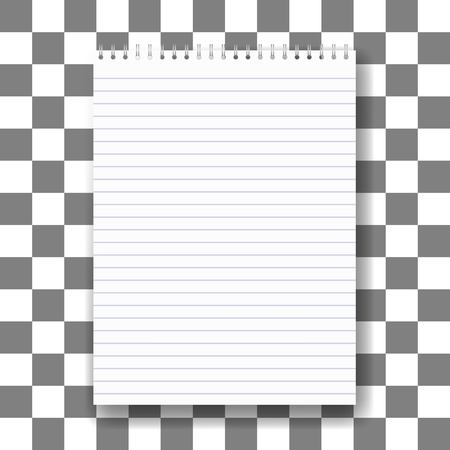 note pad: blank realistic spiral notepad notebook isolated on white vector