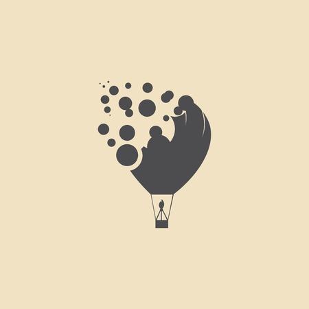 balloon vector icon Иллюстрация