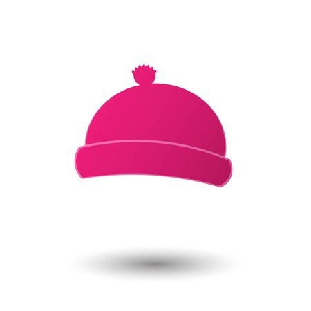 Winter Hat Icon Vector Illustration
