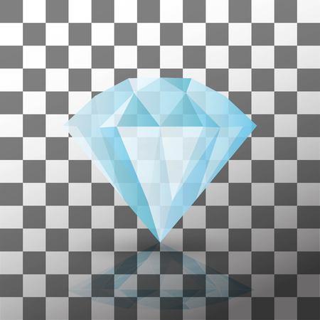 Diamond isolated on white - eps10 Reklamní fotografie - 75958841