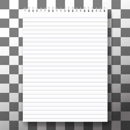 notebook cover: blank realistic spiral notepad notebook isolated on white vector