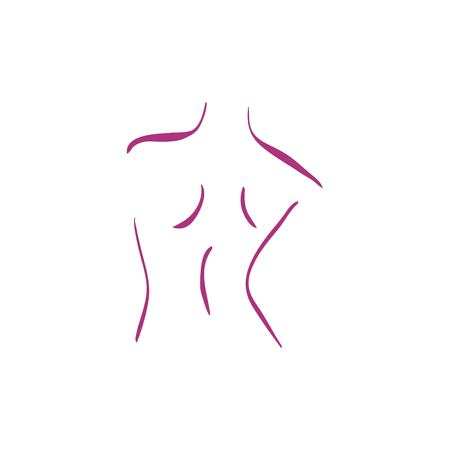 female body icon vector