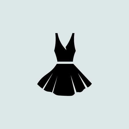 black dress on a hanger