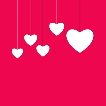 feeling happy: Creative paper heart Illustration