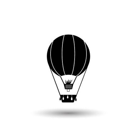 airship: balloon vector icon Illustration