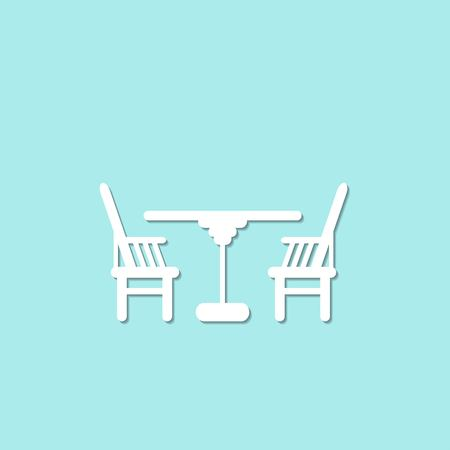 kitchen furniture: Vector chair Icon