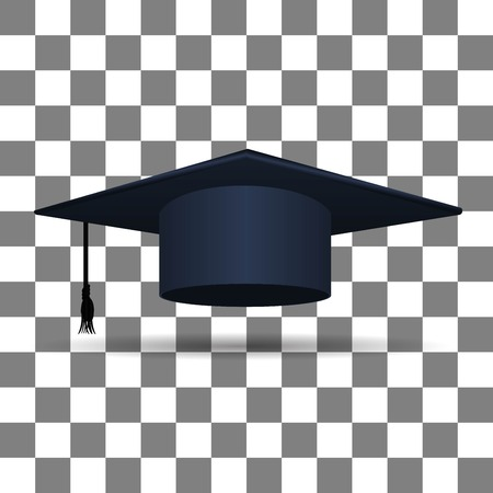 master degree: Graduation Cap icon Illustration