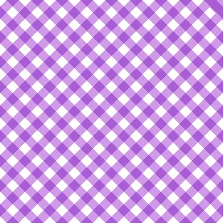 Tartan plaid seamless pattern. Kitchen checkered purple tablecloth napkin fabric background. Illustration
