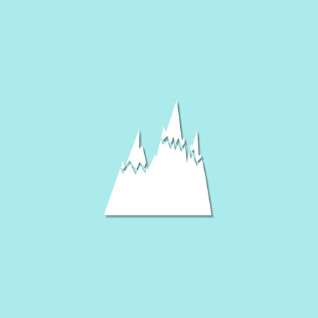 snow capped: Mountains Icon Vector