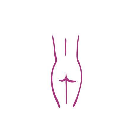 女性の身体のアイコン ベクトル  イラスト・ベクター素材