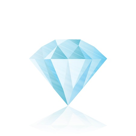 gemstone: Diamond isolated on white . realistic vector illustration Illustration