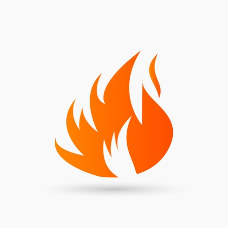 Abstract Fire Icon orange Illustration