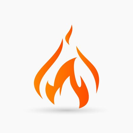 abstract vector Fire Icon orange Illustration