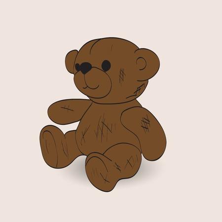 Teddy bear vector illustration. Illustration