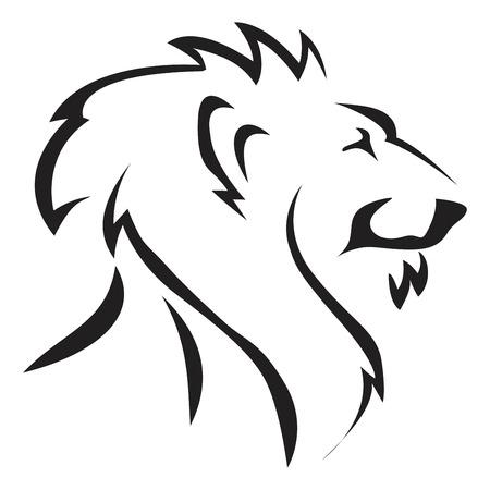 Leeuw hoofd pictogram vectorillustratie.