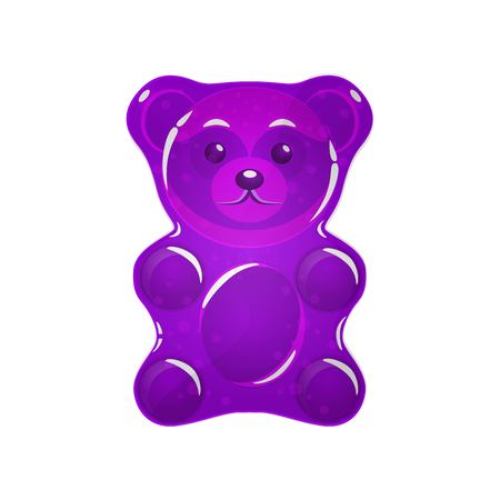purple Jelly bear vector illustration. Иллюстрация