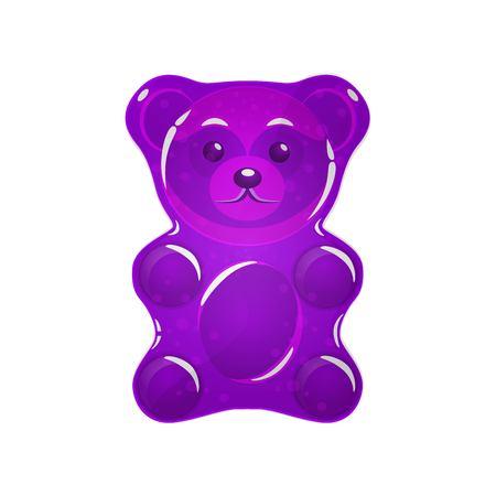 purple Jelly bear vector illustration. Illustration