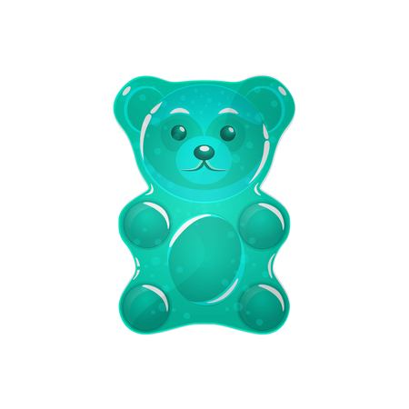 green Jelly bear vector illustration.