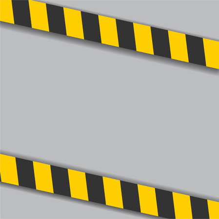 industrial danger lines on white background