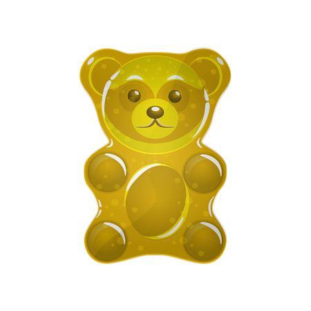 gold Jelly bear vector illustration.