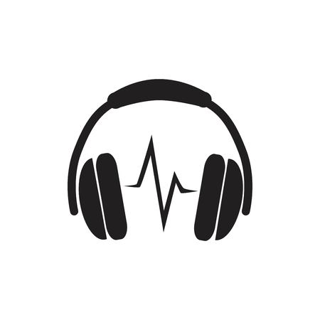 Headphones Icon vector illustration. Ilustrace