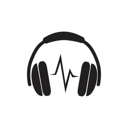 Headphones Icon vector illustration. Illustration