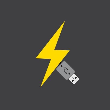usb icon -  vector illustration.