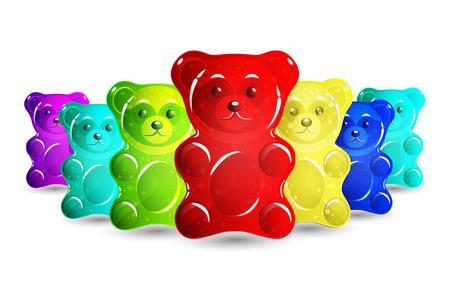 Jelly bears set  イラスト・ベクター素材