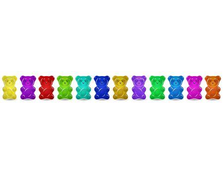 Gummy bear set 矢量图像