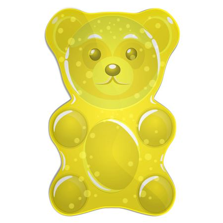 Yellow gummy bear vector illustration