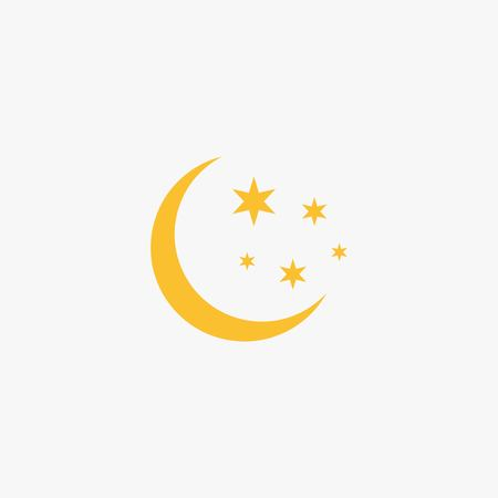 Flat Moon Icon.
