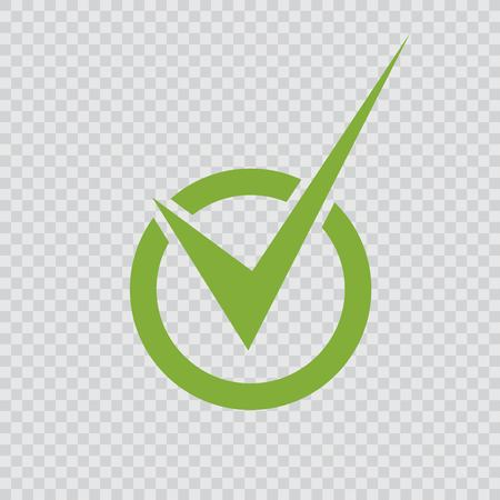 Green check mark icon. Illustration