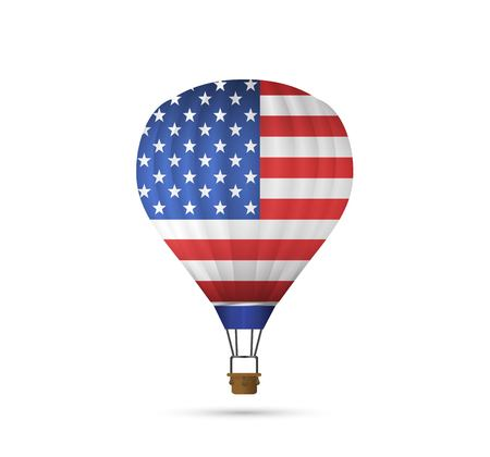 Hot Air Balloon with American Flag