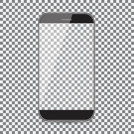 Mobile phone icon on transparent background. 일러스트