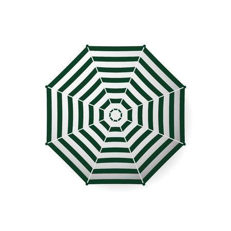 Realistic beach umbrella striped vector Çizim