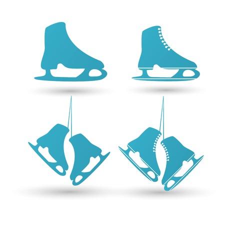 Skates Icon. winter sign