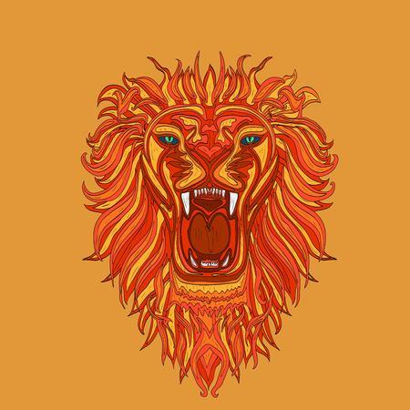 Lion head icon vector Illustration