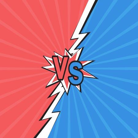 Versus backgrounds comics style design vector Иллюстрация