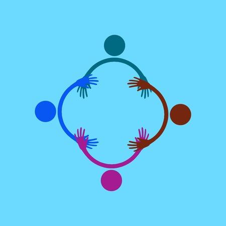 handshake and friendship icon Illustration