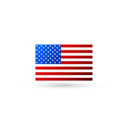 American flag logo vector Vettoriali