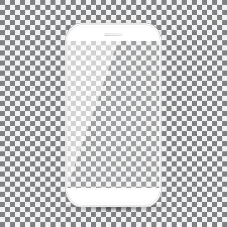 Slimme telefoon vectortekening geïsoleerde transparante achtergrond