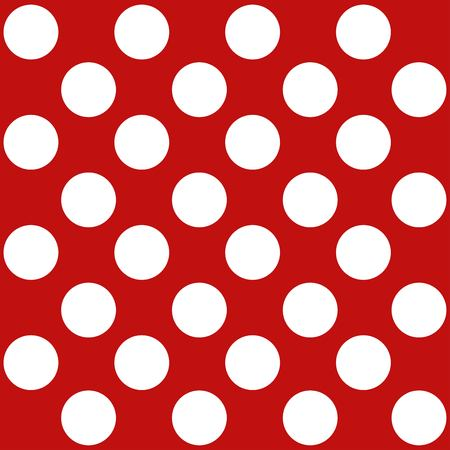 Polka dot seamless retro pattern