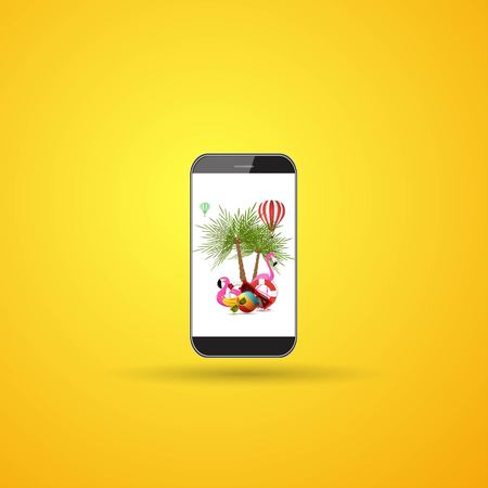 phone summer icon. Summer travel and vacation concept