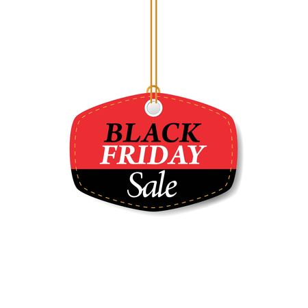 Black Friday, Sale banner. Price tag, shopping concept.