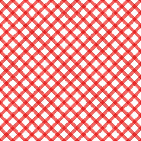 red plaid checkered gingham pattern Illustration